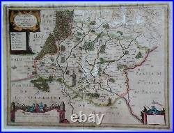 Original Map of the Calais Region of France LA CAPPELLE by Jansson in 1631