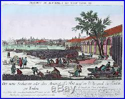 Original altkol. Box Blade Toulon France New Port Arsenal 1780