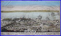 Original altkol. Box blade Raid on Le Havre France Copperplate 1759