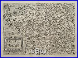 Original antique map of France from 1608 by Matthias Quad