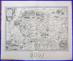 Ortelius Large Map France Paris 1590
