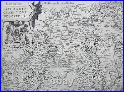 Ortelius Original Engraved Map France Lorraine Lotharingiae Metz 1590