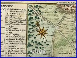 PARIS 1714 FRANCE by NICOLAS DE FER RARE ANTIQUE ENGRAVED CITY MAP 18TH CENTURY