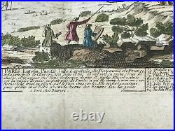 PARIS FRANCE 1760 by Pierre AVELINE NICE ANTIQUE ENGRAVED VIEW 18TH CENTURY