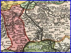 PARIS & REGION (FRANCE) 1720 by JB HOMANN LARGE ANTIQUE MAP 18TH CENTURY