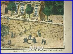 PARIS SPECTACULAR EIFFEL TOWER 1889 by APPEL (40,9 x 26,3) ANTIQUE 19TH CENTURY