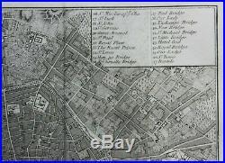 PARIS original antique city plan / map, Andrews, Stockdale, 1800