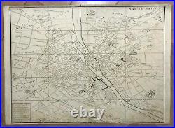PLAN DE PARIS 1739 by TURGOT & BRETEZ ANTIQUE GENERAL PLAN 18TH CENTURY 1st EDIT