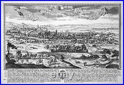 Paris France Notre-Dame Ansicht Panorama Kupferstich engraving Leopold Werner