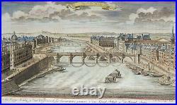 Paris, France, Seine, Pont Neuf, engraving by J. W. Stör, 1735, Die Neue Brücke