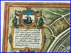 Paris -france 1572 Braun & Hogenberg Very Unusual Large Bird's View 16th Century