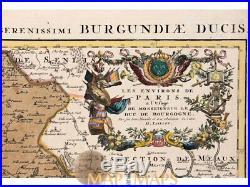 Paris map France Nova Territorii Parisiensis Jaillot 1696