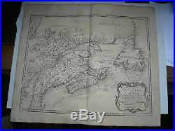 Partie Orientale Nouvelle France, Canada, 1755, Homann Heirs -ANTIQUARIAN MAP-