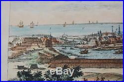 Pierre Aveline Map Donkerke Dunkirk France Etching Engraving Dated 1661 Antique