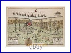 Plan de Dunkirk France battle plan Dunkerque by De Fer 1735