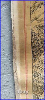 Plan de PARIS A Vol D'oiseau 1950's 79x60. France
