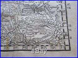 Pomponius Mela 1564 Gallia Narbonensis France Belgium Ships Orig. Woodcut Map