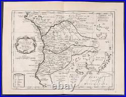 Prevost Map of the Kingdoms of Congo Angola. 134, 1746 Voyages Engraving