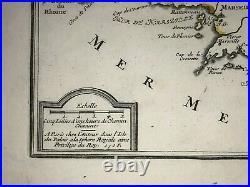 Provence Aix France Dated 1705 Nicolas De Fer Antique Engraved Map 18th Century