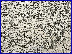 Provence France 1623 Mercator Hondius Large Antique Carte -map 17th Century