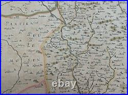 QUERCY (Cahors) FRANCE 1633 GERARD MERCATOR/ HONDIUS LARGE ANTIQUE ENGRAVED MAP