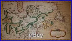 Rare ANTIQUE Map- La Nouvelle France Ou Canada-Jacques Bellin-1764-Exc. Cond