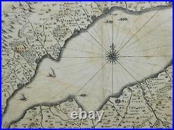 Rare Antique map 17TH C. Janssonius Lac Lake Geneva Latin French Goulart c. 1638