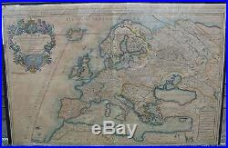 Rare Hubert Jaillot Sanson Antique Map Of Europe L'Europe C. 1696 Paris France