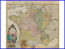 Regni Galliae seu Franciae France map Homann 1741