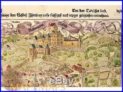 Rouffach France Château D'Isenbourg Seb. Munster 1548
