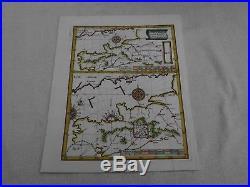 SCHERER c1702 MAP HYDROGRAPHIA CANALIS MARINI ANGLIAM ENGLISH CHANNEL FRANCE