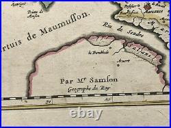 Saintonge Re Island France 1650 Nicolas Sanson Large Antique Map 17th Century