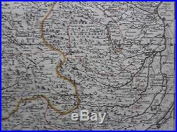 Sanson Mortier Large Map France Dauphine Italy Pinerolo Torino Coni 1700