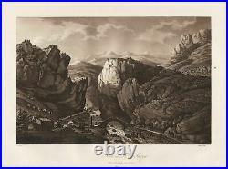 Saorge Alpes-Maritimes France Aquatint etching Radierung Apostool 1795