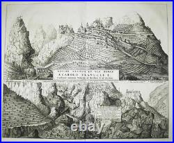 Saorge Alpes-Maritimes France gravure engraving Kupferstich Blaeu 1726