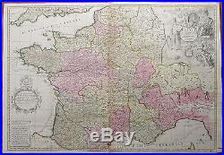 Senex Huge Decorative Map of France 1708