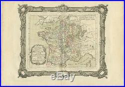 Tableau du la France (.) Zannoni (1765)