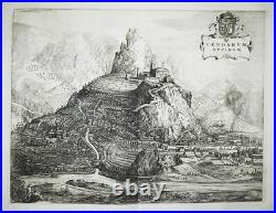 Tende Tenda Provence-Alpes-Cote d'Azur France gravure engraving Blaeu 1726