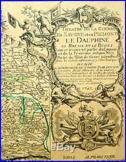 Theatre De La Guerre (.)le Dauphiné (.)n. Bailleul. Imp. Daudet. France. 1747