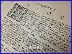 VALOIS 1641 Hand Colored JOANNIS BLAEU Map ANTIQUE France ATLAS MAIOR