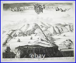 Villefranche-sur-Mer Alpes-Maritimes France gravure engraving Blaeu 1726