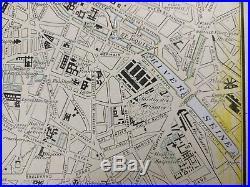Vintage 1900 PARIS FRANCE Map 11x14 Old Antique Historical EIFFEL TOWER MAPZ