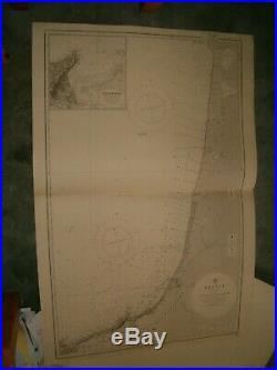 Vintage Admiralty Chart 2665 FRANCE RIO BIDASOA to PTE D'ARCACHON 1912 edn