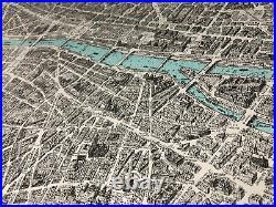 Vintage Map Of Paris Blondel La Rougery De Paris A Vol D'oiseau 1959