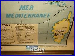 Vintage Scroll Map of France
