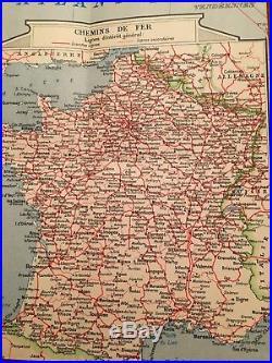 Vintage original six ancient maps of Paris France