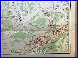 WINE MAP CHAMPAGNE FRANCE 1944 by LARMAT VERY LARGE ANTIQUE GENERAL MAP