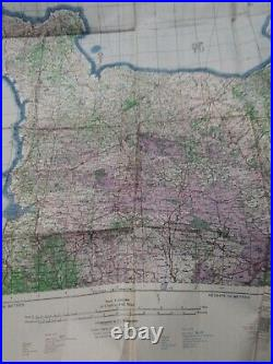WWII Cherbourg & Caen 1943 Army Air Map of France 4th edition 30 x 35 inches app