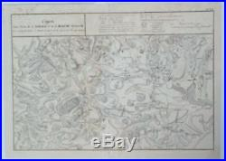War Map of Bohemia CARTE D'UNE PARTEI DE LA MORAVIE by Wexelberg in 1807