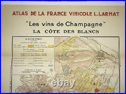 Wine Map Champagne Moet Et Chandon France 1944 Limited Edition Large Antique